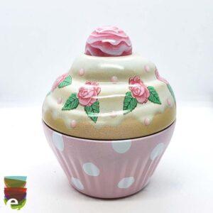 CupCake con rose rosa