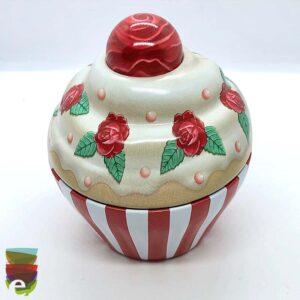 CupCake con rose rosse