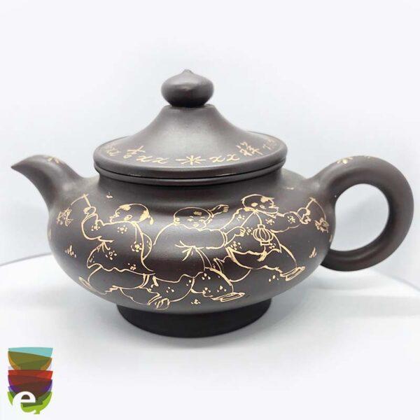Teiera Yixing con scritte 2