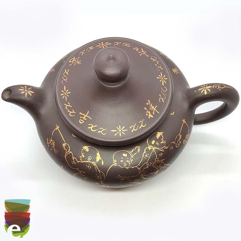 Teiera Yixing con scritte